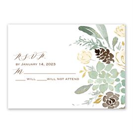 Winter in Bloom - Gold  - Foil Response Card
