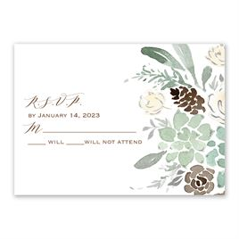 Winter in Bloom - Silver  - Foil Response Card