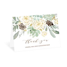 Thank You Cards: Winter in Bloom Foil Thank You Card