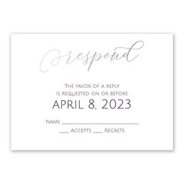 Ever After - Silver - Foil Response Card