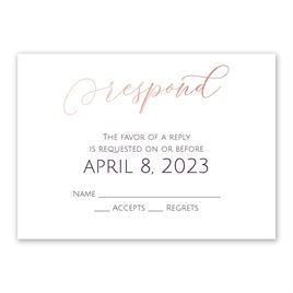 Wedding Response Cards: Ever After Foil Response Card