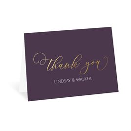 Ever After - Gold - Foil Thank You Card