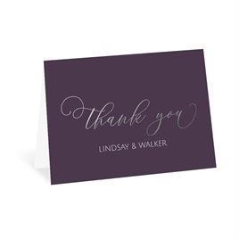 Ever After - Silver - Foil Thank You Card