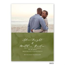 Painted Greenery - Save the Date Card