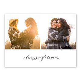 Always and Forever - Save the Date Card