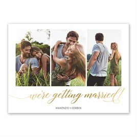 Gilded Script - Gold - Foil Save the Date Card