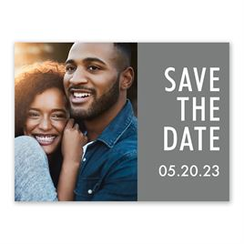 Our Date - Save the Date Card