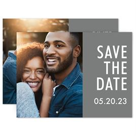 Simple Save the Dates: Our Date Save the Date Card