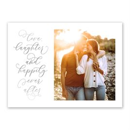 Love and Laughter - Silver - Foil Save the Date Card