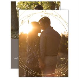 Spring and Summer Save The Dates: Love Swept Foil Save the Date Card