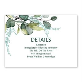 Wedding Reception and Information Cards: Breathless Reception Card