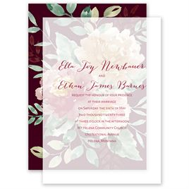 Splendid Blossom Layered Vellum Invitation