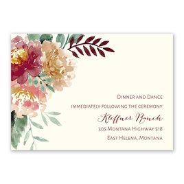 Wedding Reception and Information Cards: Splendid Blossom Reception Card