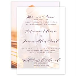 Photo Perfect Layered Vellum Invitation
