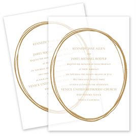 Jeweled Vellum Invitation