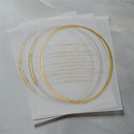 Jeweled - Vellum Invitation