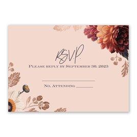 Wedding Response Cards: Abundant Blooms Response Card