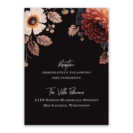 Wedding Reception and Information Cards: Abundant Blooms Reception Card