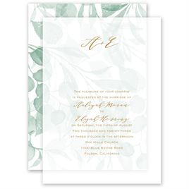 Verdant Layered Vellum Invitation
