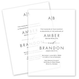 Striking Vellum Invitation