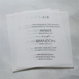 Striking - Vellum Invitation