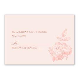 Vintage Rose - Pastel Coral - Response Card