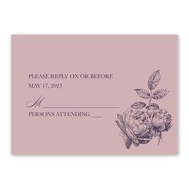 Wedding Response Cards: Vintage Rose Response Card