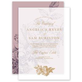 Vintage Rose - Lilac - Layered Vellum Invitation