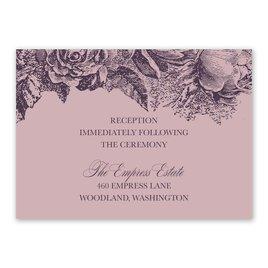 Vintage Rose - Lilac - Reception Card