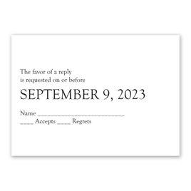 Wedding Response Cards: Devotion Response Card