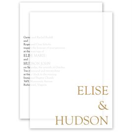 Devotion Layered Vellum Invitation