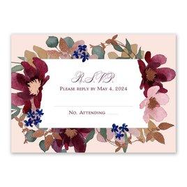 Lush Floral - Response Card