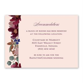 Wedding Reception and Information Cards: Lush Floral Information Card