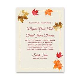 Gilded Leaves - Petite Invitation