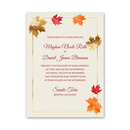 Gilded Leaves Petite Invitation