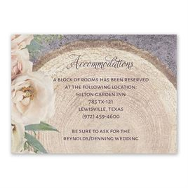 Wedding Reception and Information Cards: Woodland Whimsy Information Card