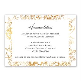 Wedding Reception and Information Cards: Floral Allure Information Card