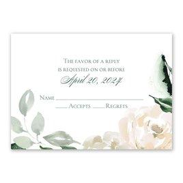 Wedding Response Cards: Rose Garden Response Card