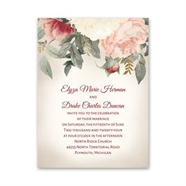 Blushing Blooms Petite Invitation