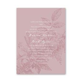 Floral Silhouette - Petite Invitation