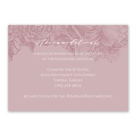 Wedding Reception and Information Cards: Floral Silhouette Information Card