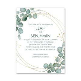 Lovely Greens Petite Invitation