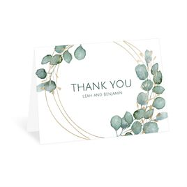 Thank You Cards: Lovely Greens Thank You Card
