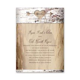 Birch Heart Petite Invitation