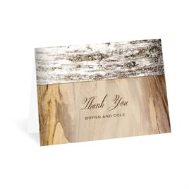 Rustic Thank You Cards: Birch Heart Thank You Card
