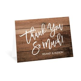 Rustic Thank You Cards: Happily Ever After Thank You Card