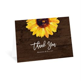 Thank You Cards: Sunflower Thank You Card