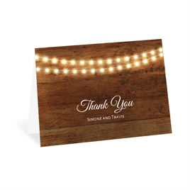 Rustic Thank You Cards: Country Glow Thank You Card