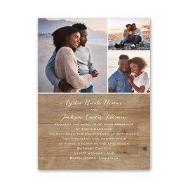 Woodgrain Photo - Petite Invitation