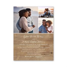 Woodgrain Photo Petite Invitation